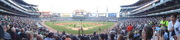 Panorama of leadoff home run at US Cellular Field