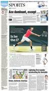 Jack Sock plays Wimbledon