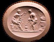 Sello de Apolo bañado por dos ninfas