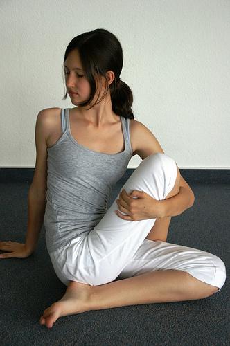 Drehsitz - Yoga Spinal Twist