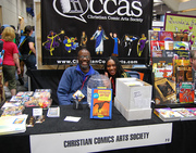 Ralph and Leslie at the CCAS Table in the Small Press area
