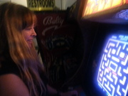 Tysha at the Pinball Hall of Fame!