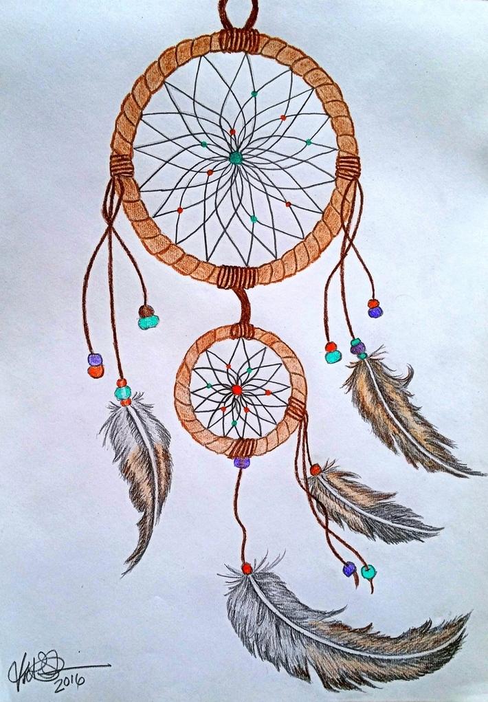 Dreamcatcher (colored pencils)