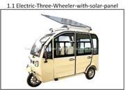 Electric-Solar TUK-TUK ,