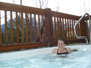 Carla and the hot tub