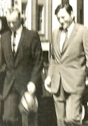 Bob walking with Gregory Peck