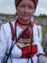 Эрзянка с национальным нагрудным украшением - сюлгамо.