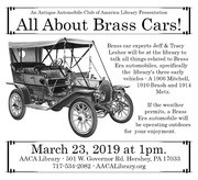 All About Brass Cars! An AACA Library Presentation