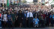 LaTosha Walks with President