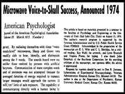 Microwave Voice-to-Skull