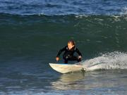 Kai Woolf (9 years old) with a solid bottom turn