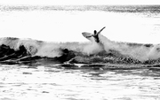 Luke getting at every wave, ST Francis Bay