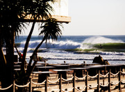 unkown getting barreled during the recent run of swell in Durban