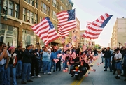 """""""Flags on a Harley"""" by Ray Arena"""