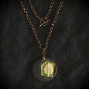 Leaf Pendant Becomes a Necklace