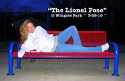 Angela posing like Lionel