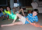 Chung kids posing like Lionel