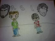 Rhett and link drawing