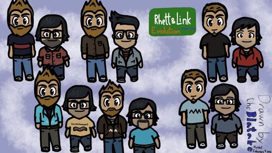 Rhett and Link evolution. 2006 - 2016
