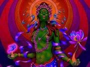 OM je me prosterne devant le joyau dans le lotus, devant le joyau dans le coeur OM