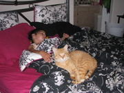 Grace and her familiar cat Willow D