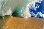 Beach - surf crashes down