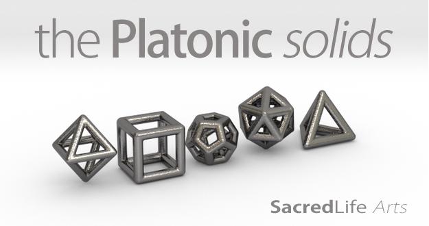 PLATONIC SOLIDS (full set)-Polished Nickel Steel