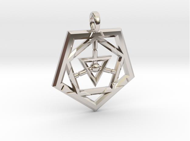 STAR MAGIC FIVE-Rhodium Plated
