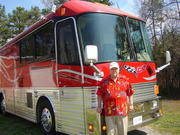 Al Roberts with Feature Attraction band tour bus