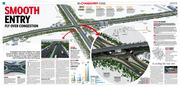 Centre spread chandigarh Tribune chowk 3d Illustration