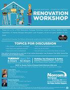 RENOVATION WORKSHOP - 4.9.19 - 8:30 am