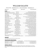 William Galatis Resume 936 213-5804