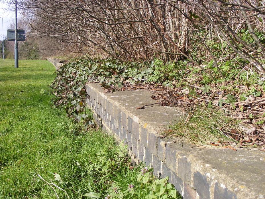 Stratford-upon-Avon Station - platform remains - towards Broom