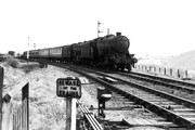 Coaching stock that had been stored on the SMJ Olney branch on Bedford - Northampton line at Hardingstone Junction in June 1960