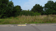 Towcester station site - Boundary line with site with site of signal box in front