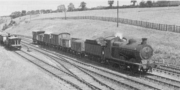 H.J.Stretton-Ward of No 8 of Charwelton Quarry in the mainline siding at Charwelton