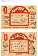 LMS Explosives Wagon Labels