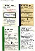 War Dept Wagon Labels Set A