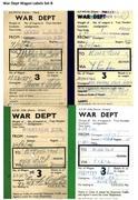 War Dept Wagon Labels Set B