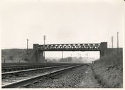 Roade with view of bridge carrying SMJ line over the West Coast Main Line 24.6.53