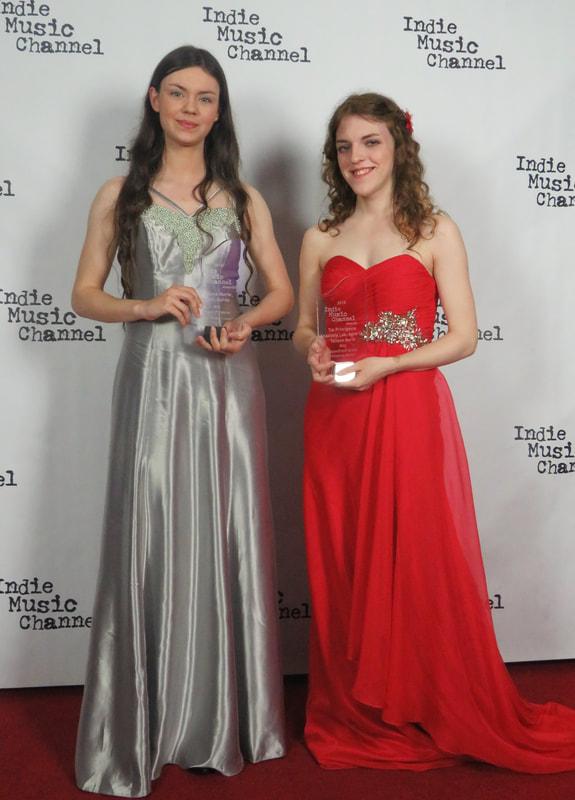 Tatiana Marie & Anastasia Lee at the Indie Music Awards 2018