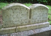 Winifred A. and Robert P. Curtis Gravestone