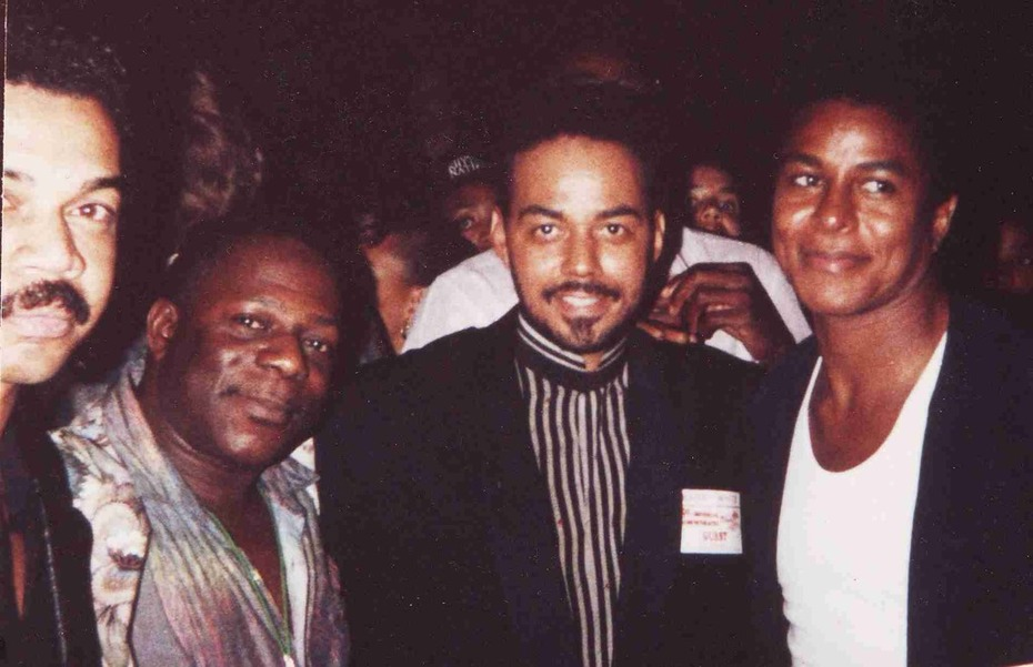 L-R,Jack Perry,Emmett North Jr.,James Ingram & Jermaine Jackson