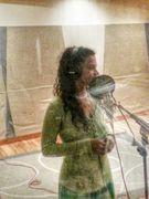 Annika laying vocals