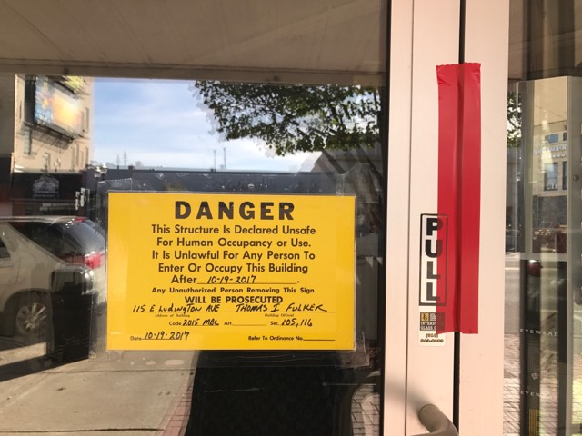 Old Raven's Building Declared Unsafe by Building Inspector