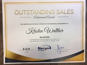 Outstanding Sales Achievement Award August 2018