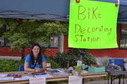Bike decorating for the parade