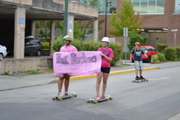 Long Boarders for Breats Cancer!