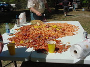 Crawfish and Shrimp on Table 2013