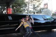Karoline and Beamer arriving in Vegas
